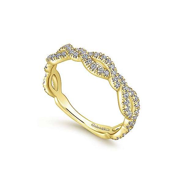 Twisted Diamond Stackable/Wedding Band Image 2 Carter's Jewelry, Inc. Petal, MS