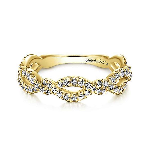 Twisted Diamond Stackable/Wedding Band Carter's Jewelry, Inc. Petal, MS