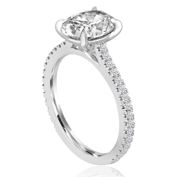 Round Diamond Solitaire Semi Mounted Engagement Ring Image 2 Carter's Jewelry, Inc. Petal, MS