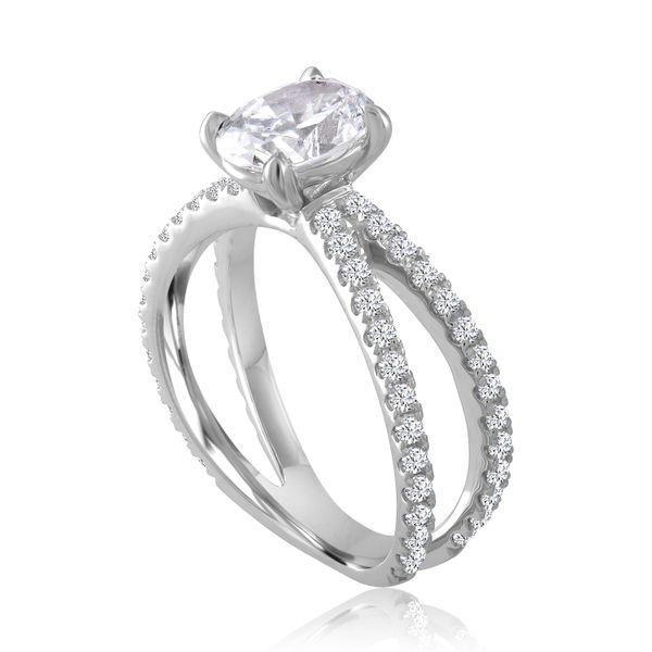 Oval Diamond X Design Semi Mounted Engagement Ring Image 2 Carter's Jewelry, Inc. Petal, MS