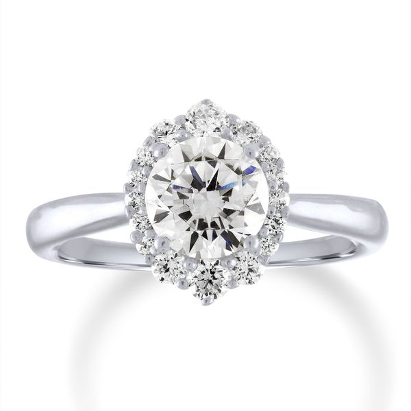 Oval Diamond Vintage Halo Semi Mounted Engagement Ring Carter's Jewelry, Inc. Petal, MS