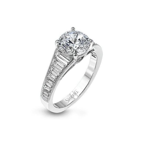Simon G Graduating Baguette Diamond Solitaire Engagement Ring Carter's Jewelry, Inc. Petal, MS