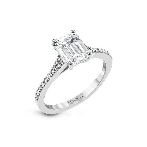 Simon G Emerald Cut Tapered Diamond Engagement Ring Carter's Jewelry, Inc. Petal, MS