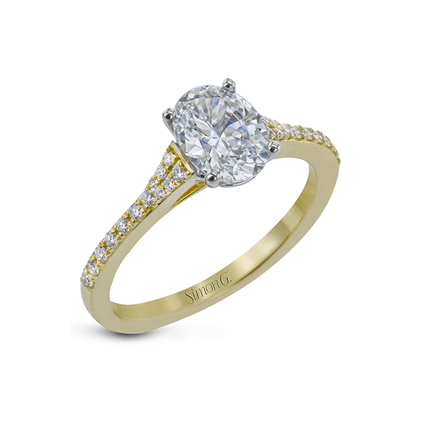 Simon G Tapered Diamond Solitaire Semi Mounted Engagement Ring Carter's Jewelry, Inc. Petal, MS