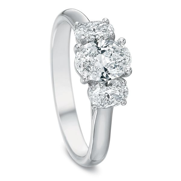 Oval 3 Stone Diamond Semi Mounted Engagement Ring Image 2 Carter's Jewelry, Inc. Petal, MS