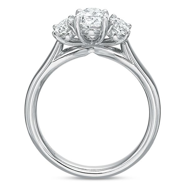 Oval 3 Stone Diamond Semi Mounted Engagement Ring Image 3 Carter's Jewelry, Inc. Petal, MS
