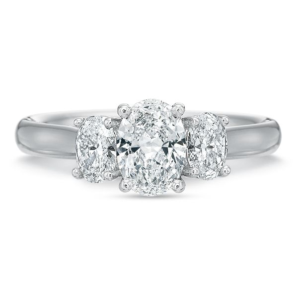 Oval 3 Stone Diamond Semi Mounted Engagement Ring Carter's Jewelry, Inc. Petal, MS