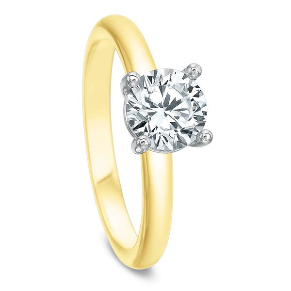 Rounded Shank Classic Solitaire Semi Mounted Engagement Ring Image 2 Carter's Jewelry, Inc. Petal, MS