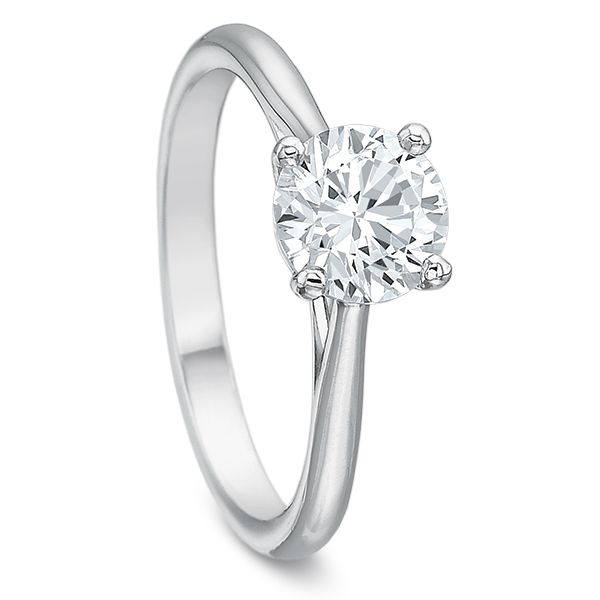 Classic 4 Prong Solitaire Semi Mounted Engagement Ring Image 2 Carter's Jewelry, Inc. Petal, MS