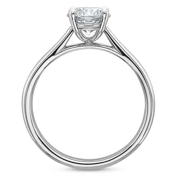 Classic 4 Prong Solitaire Semi Mounted Engagement Ring Image 3 Carter's Jewelry, Inc. Petal, MS