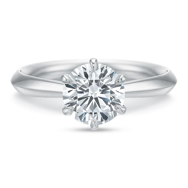 Classic 6 Prong Solitaire Semi Mounted Engagement Ring Carter's Jewelry, Inc. Petal, MS