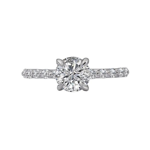 Shared Prong Diamond Solitaire Semi Mount Engagement Ring (DOES NOT INCLUDE CENTER STONE) Image 2 Carter's Jewelry, Inc. Petal, MS