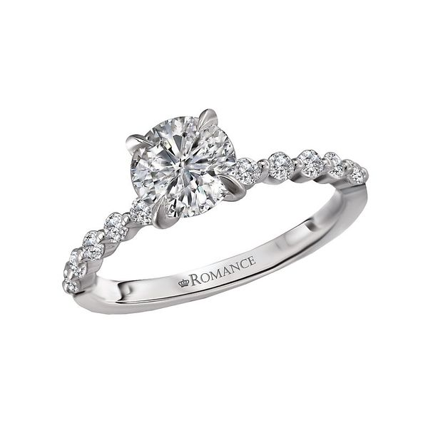 Shared Prong Diamond Solitaire Semi Mount Engagement Ring (DOES NOT INCLUDE CENTER STONE) Carter's Jewelry, Inc. Petal, MS