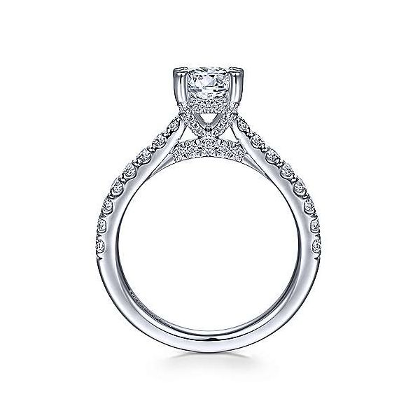 Pave Diamond Basket Solitaire Semi Mount Engage,ent Ring (DOES NOT INCLUDE CENTER STONE) Image 2 Carter's Jewelry, Inc. Petal, MS