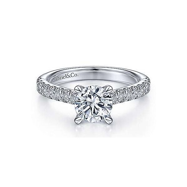 Pave Diamond Basket Solitaire Semi Mount Engage,ent Ring (DOES NOT INCLUDE CENTER STONE) Carter's Jewelry, Inc. Petal, MS