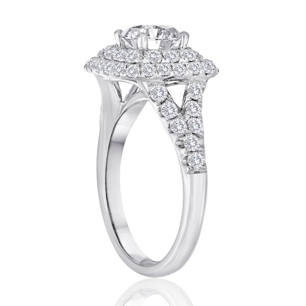Cushion Double Halo Semi Mount Engagement Ring (DOES NOT INCLUDE CENTER STONE) Image 2 Carter's Jewelry, Inc. Petal, MS