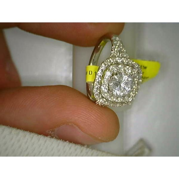 Cushion Double Halo Semi Mount Engagement Ring (DOES NOT INCLUDE CENTER STONE) Carter's Jewelry, Inc. Petal, MS