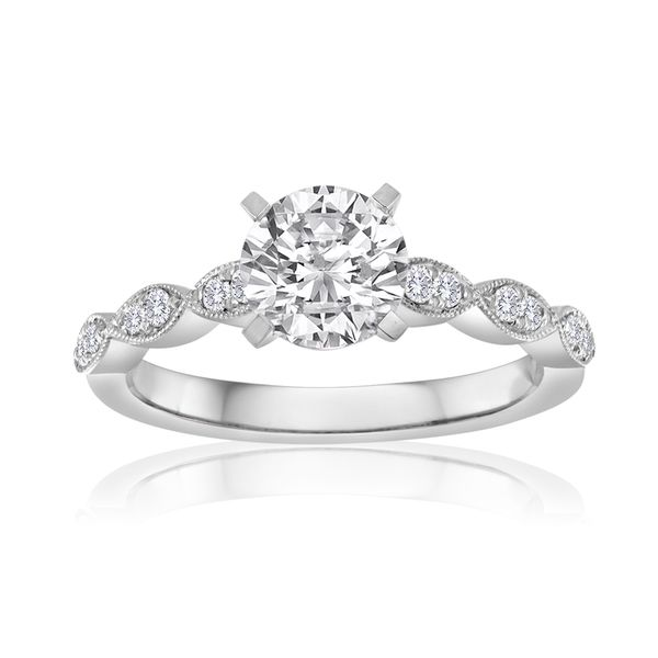 Scalloped Diamond Solitaire Semi Mount Engagement Ring (DOES NOT INCLUDE CENTER STONE) Carter's Jewelry, Inc. Petal, MS