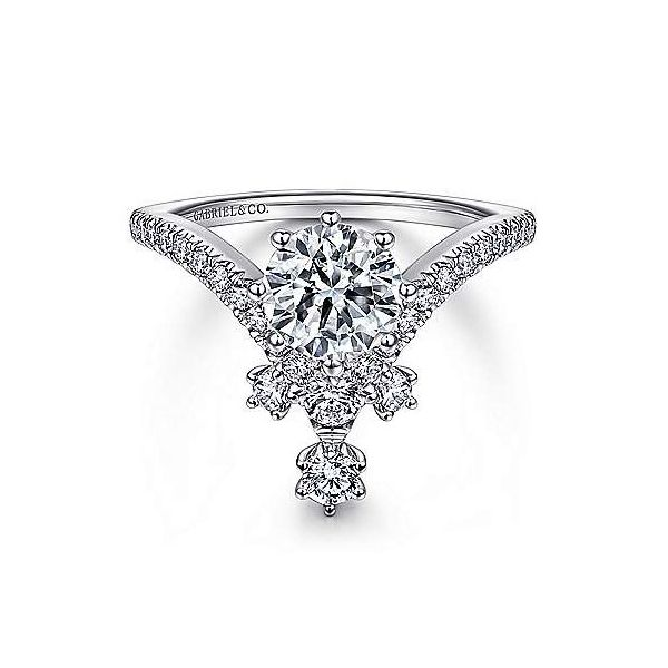 Abstract V Shape Semi Mount Diamond Engagement Ring Carter's Jewelry, Inc. Petal, MS