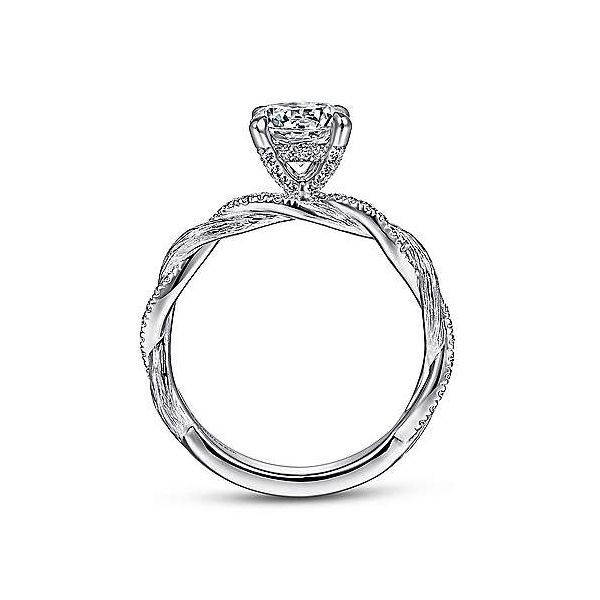Infinity Twist Semi Mount Diamond Engagement Ring Image 2 Carter's Jewelry, Inc. Petal, MS