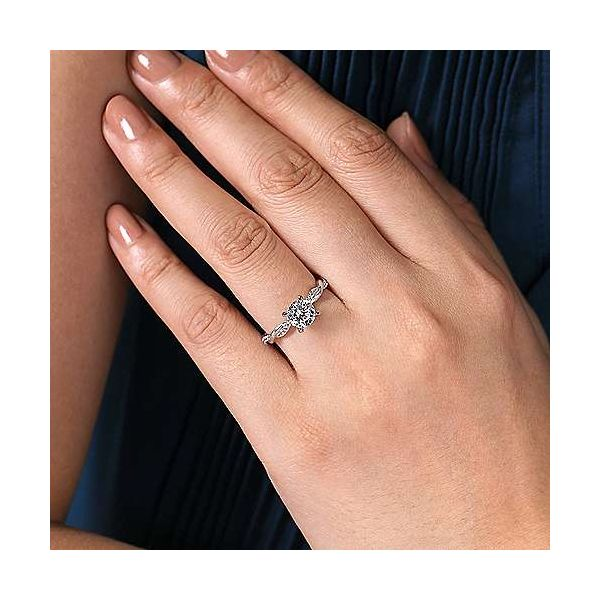 Infinity Twist Semi Mount Diamond Engagement Ring Image 3 Carter's Jewelry, Inc. Petal, MS