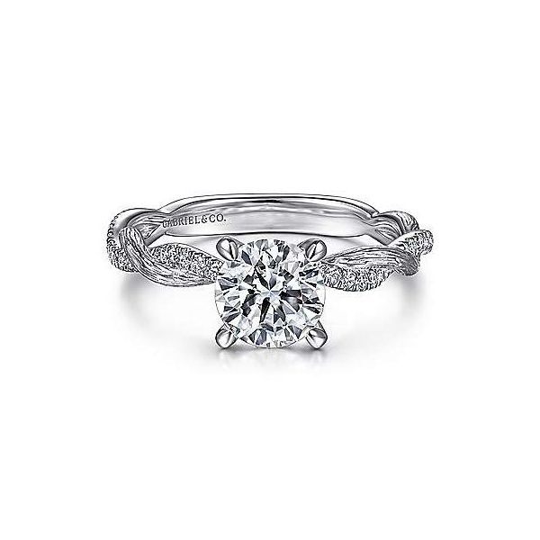 Infinity Twist Semi Mount Diamond Engagement Ring Carter's Jewelry, Inc. Petal, MS