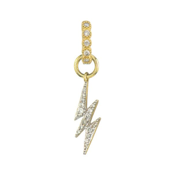 Petite Lightning Bolt Charm (Single Charm / Hoop Not Included) Carter's Jewelry, Inc. Petal, MS