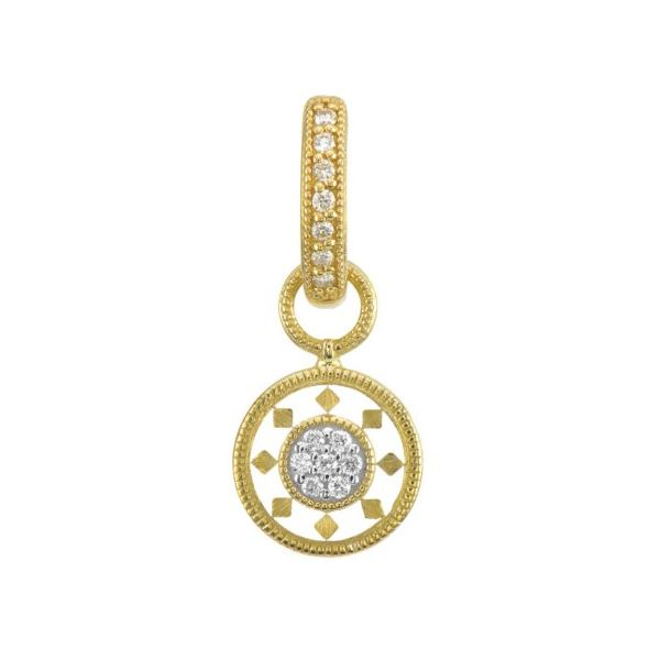 Lisse Small Disc Ceramic Pave Earring Charm (Single Charm / Hoop Not Included) Carter's Jewelry, Inc. Petal, MS