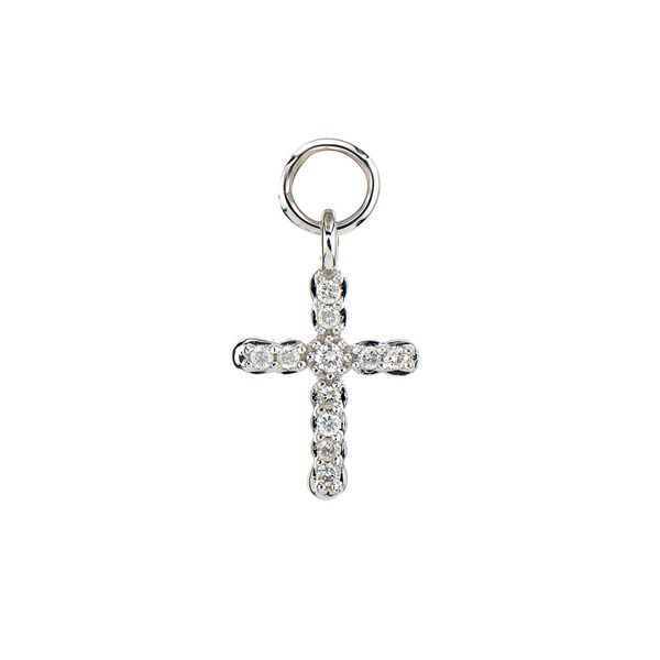 Petite Pave Cross Charm (Single Charm / Hoop Not Included) Image 3 Carter's Jewelry, Inc. Petal, MS