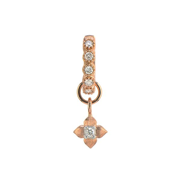 Petite Brushed Diamond Flower Charm (Single Charm / Hoop Not Included) Carter's Jewelry, Inc. Petal, MS