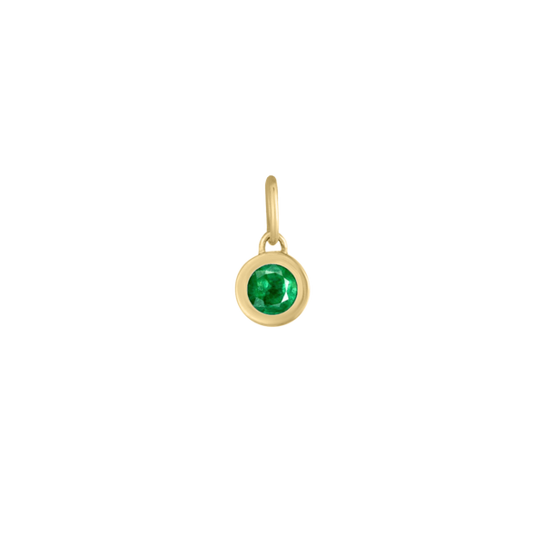 Mini Birthstone Bezel Charm in Emerald Carter's Jewelry, Inc. Petal, MS