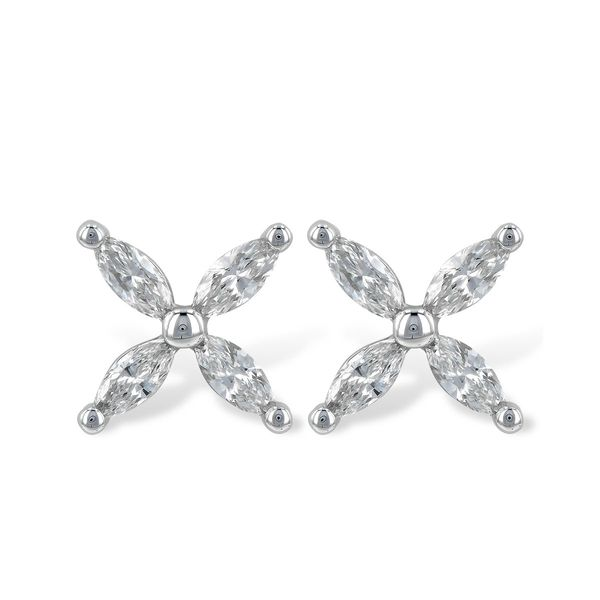 Marquise Diamond X Design Stud Earrings Carter's Jewelry, Inc. Petal, MS