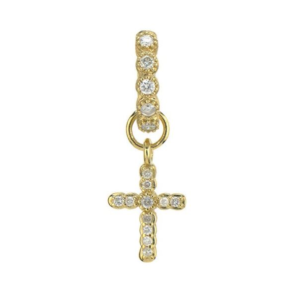 Petite Pave Cross Charm (Single Charm) Carter's Jewelry, Inc. Petal, MS