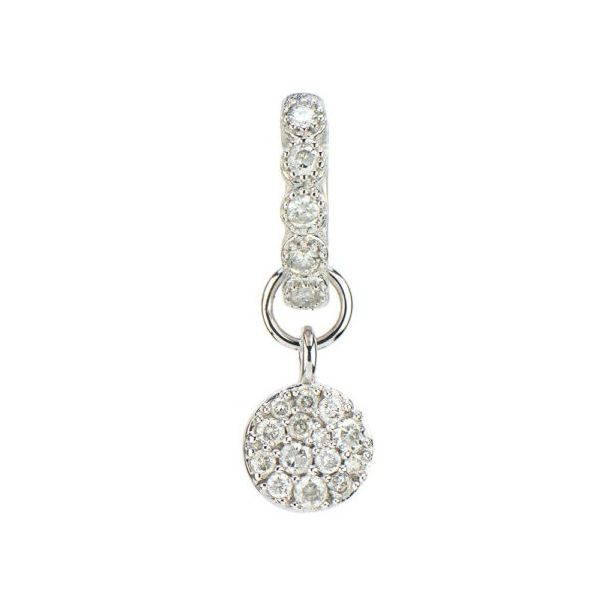 Pave Diamond Circle Earring Charm Carter's Jewelry, Inc. Petal, MS