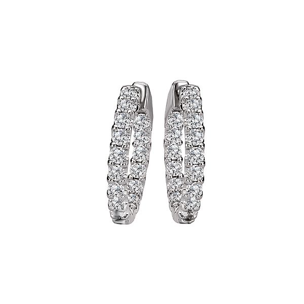 Inside/Out Diamond Hoop Earrings, 2.00cttw Carter's Jewelry, Inc. Petal, MS