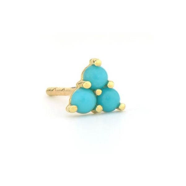 Petite Three Stone Turquoise Stud Earring Carter's Jewelry, Inc. Petal, MS