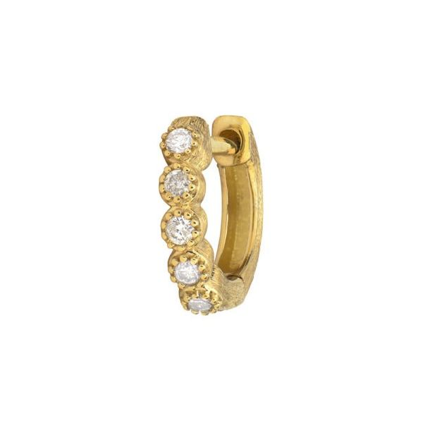 Petite Bezel Hoop Earring Carter's Jewelry, Inc. Petal, MS