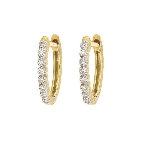 Delicate Provence Champagne Hoop Earrings Carter's Jewelry, Inc. Petal, MS