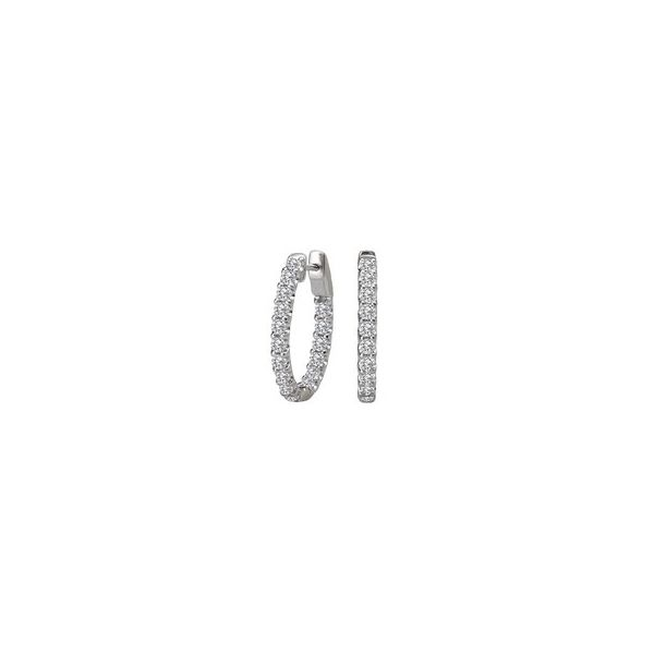 Inside/Out Diamond Hoops, 1.00cttw Carter's Jewelry, Inc. Petal, MS