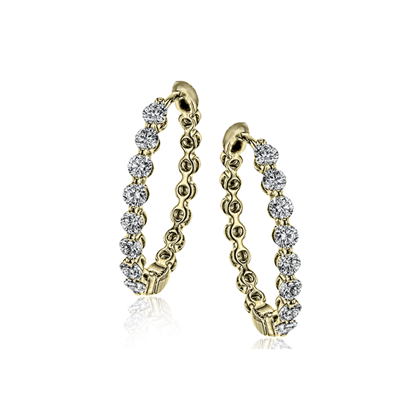 Simon G Shared Prong Diamond Hoop Earrings Carter's Jewelry, Inc. Petal, MS