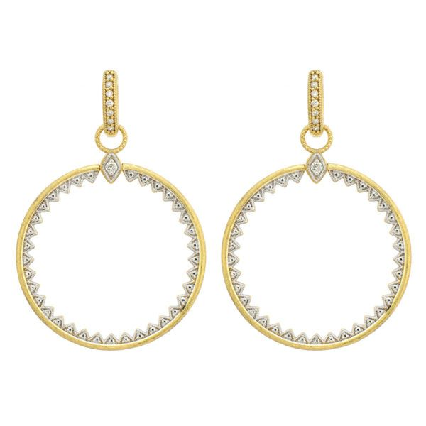 Lisse Medium Open Circle Half Kite Earring Charms Carter's Jewelry, Inc. Petal, MS