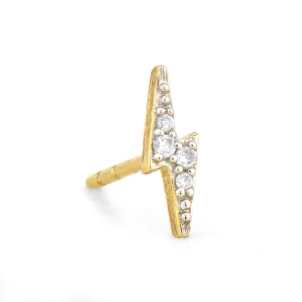 Diamond Lightning Bolt Stud (Single Stud) Carter's Jewelry, Inc. Petal, MS