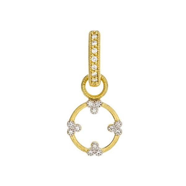 Provence Champagne Open Circle Trio Earring Charm (Single Charm) Carter's Jewelry, Inc. Petal, MS