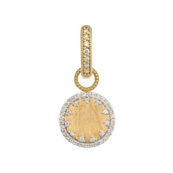 Provence Pave Disc Engravable Earring Charms With JFJ Finish (Single Charm) Carter's Jewelry, Inc. Petal, MS