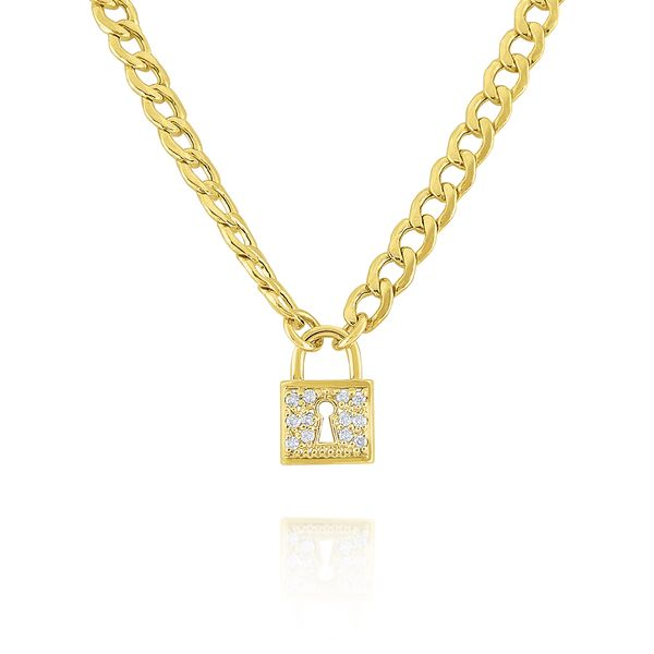 Cuban Link Diamond Lock Necklace Carter's Jewelry, Inc. Petal, MS