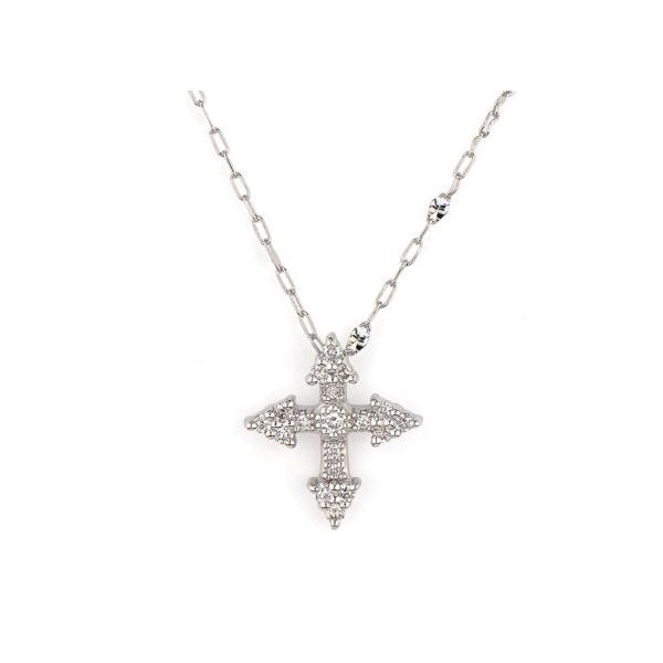 Provence Champagne Tiny Cross Pendant Carter's Jewelry, Inc. Petal, MS
