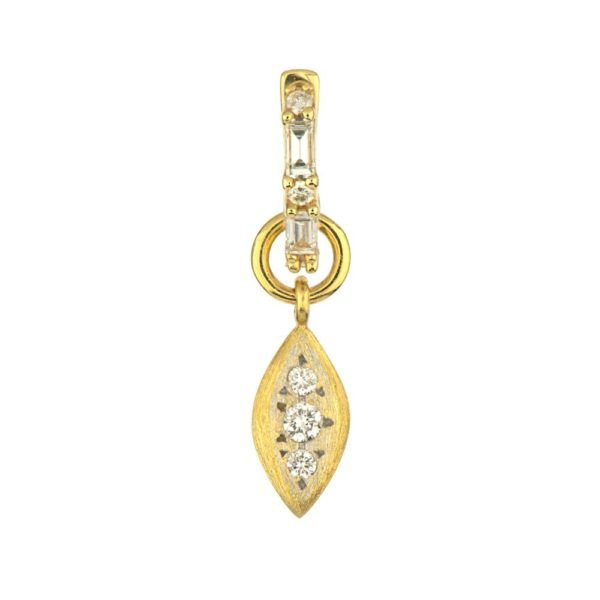 Petite Drop Charm White Diamond (Single Charm / Hoop Not Included) Carter's Jewelry, Inc. Petal, MS