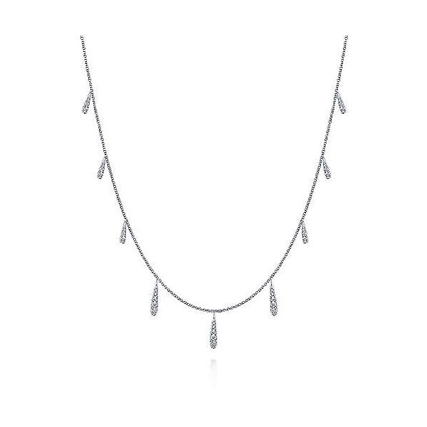 Dangling Diamond Station Necklace Carter's Jewelry, Inc. Petal, MS