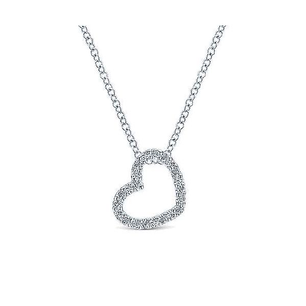 Open Diamond Heart Necklace Carter's Jewelry, Inc. Petal, MS