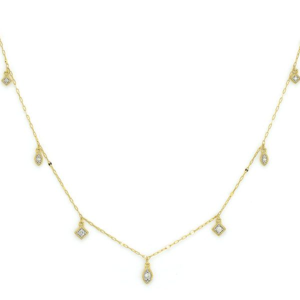 Diamond Kite & Marquise Station Necklace Carter's Jewelry, Inc. Petal, MS